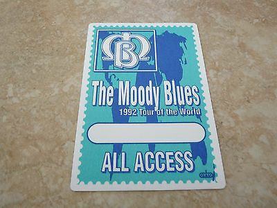 The Moody Blues 1992 Tour Of The World Backstage Concert Pass