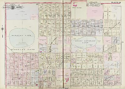 1905 Denver Colorado, Berkeley Lake & School W. 42Nd Av - W. 52Nd Av Atlas Map