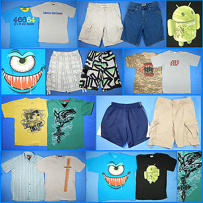 16 Piece Lot of Nice Clean Boys Size 14 Spring Summer Everyday Clothes ss3