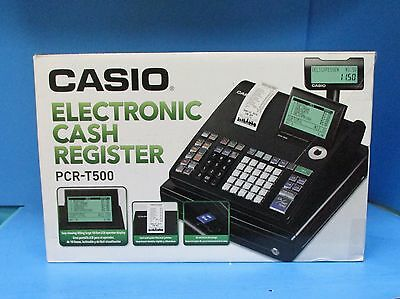Casio PCR-T500 Electronic Cash Register 3000 PLUs 40 Clerks PCRT500 SEALED NEW
