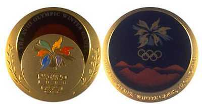 1998 Nagano Olympic 'Gold' Medal with Ribbons & Display Stands !!!