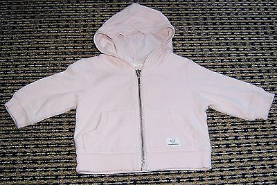 Country Road Baby Girls Zip Front Hooded Jacket Sz 0 - 3 Months