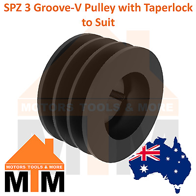 SPZ Z-section 3 Groove V Belt Pulley w/ taper lock to suit