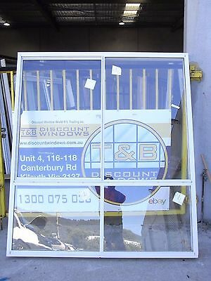 Aluminium Sliding Window 2105H x 1855W (Item 2713) Surfmist