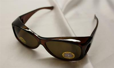 wear over sunglasses New Put-Over Shades Amber Color Lens Free Shipping USA