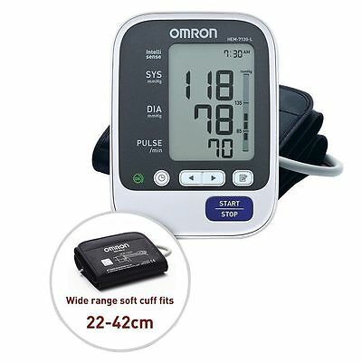 Brand New Omron HEM 7130 L With Large Cuff Upper Arm BP Monitor - Free Shipping