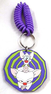 Pinky & the BRAIN PVC Keyring Coiled Wrist '96 Warner Brothers Looney Tunes wb
