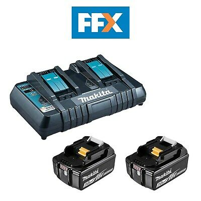 Genuine Makita BL1830XDC18RD 2 x 3Ah Battery and Twin Charger Kit
