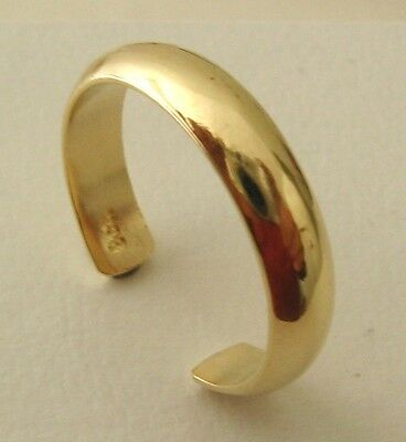GENUINE  SOLID  9K  9ct  YELLOW  GOLD  PLAIN  TOE  RING