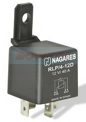 Nagares Rlp/4-12D 4 Pin 12V 40A Normally Open Multi Purpose Relay With Diode