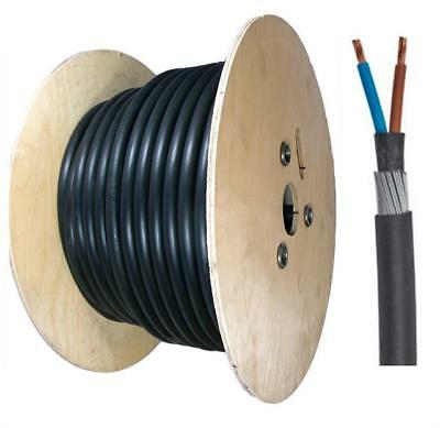 50 Meter Drum 2 Core SWA Cable All Sizes 1.5mm-25mm Outdoor Armoured Cable 6942X