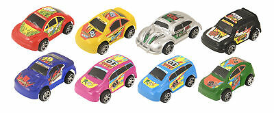 6 Mini Coloured Pull Back Cars - 6cm - Toy Loot/Party Bag Fillers Wedding/Kids