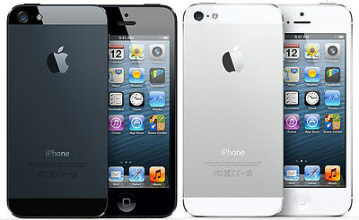 APPLE iPHONE 5 16GB / 32GB / 64GB - Unlocked - Black / White - Smartphone Mobile