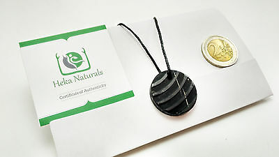 Breeze Shungite Pendant Necklace Natural Stone Chakra Crystal Energy Russia