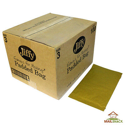 JIFFY Green Large Letter Padded Envelopes Bags | Size 3 | 210 x 340mm