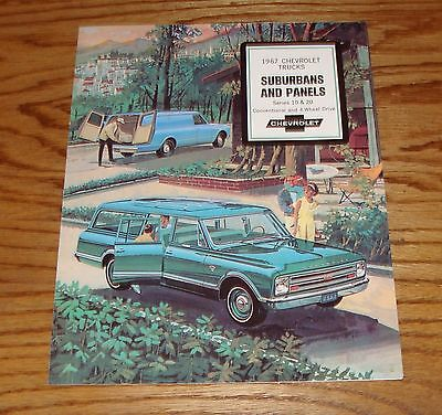 1967 Chevrolet Truck Suburban & Panel Foldout Sales Brochure 67 Chevy