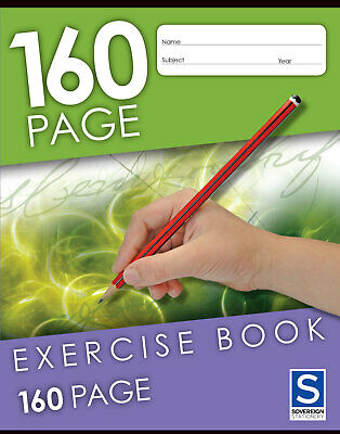 Sovereign Exercise Book 9x7  160 Page - 10 Pack