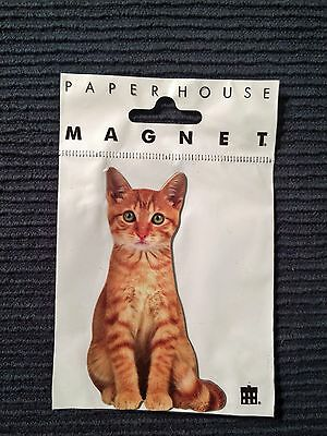 """TABBY CAT MAGNET Paper House Productions 3"""" x 2 1/2"""" New Free Shipping Frig"""