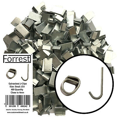 Heavy duty J-clips Aprox 200, fencing, aviary's, wire mesh, cage making, traps
