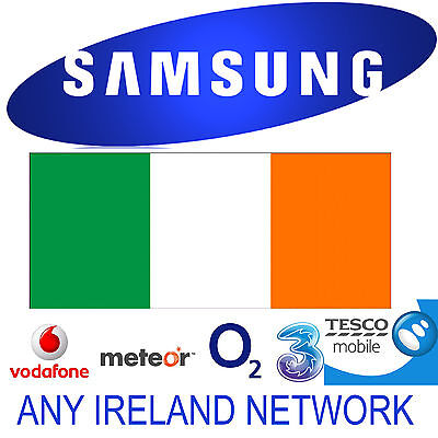 Unlock Code Samsung Galaxy S10 S10+ Note 9 S8 S7 Edge Ireland O2 Vodafone Three