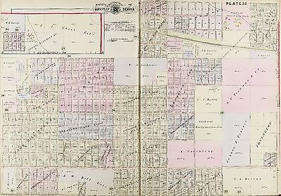 1905 Denver, Colorado, Highland, Union Pacific R.r. 23Rd Av - 43Rd Av Atlas Map
