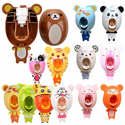 Automatic Toothpaste Dispenser Child Toothbrush Holder Good Quality H2G4