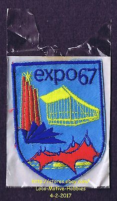 LMH PATCH Badge EXPO 67  World's Fair 1967 Exposition  MONTREAL Quebec CANADA bl