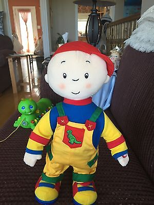 Caillou Talking VINTAGE Red Hat In Excellent Condition