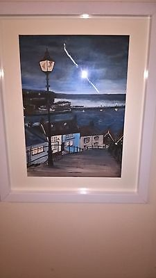 painting original art signed by artist acrylic 'Whitby'
