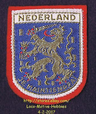 LMH PATCH Woven Badge NEDERLAND Lion COAT ARMS Maintiendrai NETHERLAND Holland