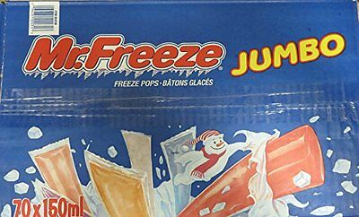 Mr. Freeze Jumbo Ice Pops, 150 mls /5 Ounces - 70 Pack {Imported from Canada}