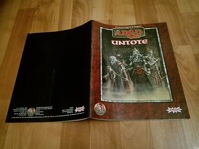Untote Heft Ad&d Tsr  Advanced Dungeons & Dragons Ad&d Sehr Gut