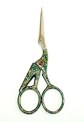 "BOHIN 4.5"" Harlequin Stork Embroidery Scissors ~Needlepoint, Embroidery,X-Stitch"