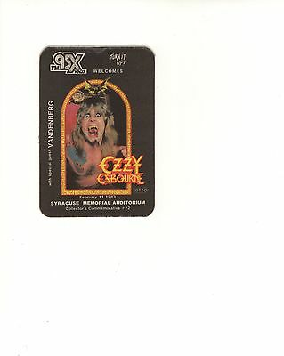 OZZY OSBOURNE vintage silk concert give away from 1983 Syracuse concert RARE f619834bee43