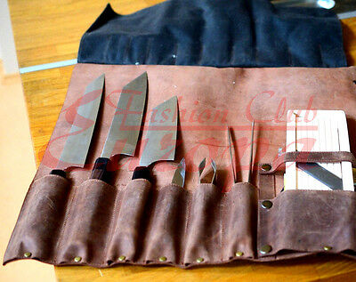 Good quality 100%Real Leather Knife Roll, Chefs Bag