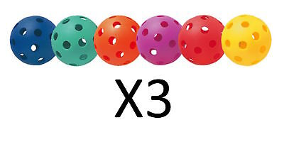 Champion Multicolored Plastic Baseballs Playground Safe Practice 6 Pc (3-Pack)