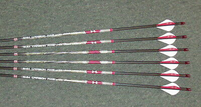 6 Easton Carbon Arrows Axis Under Armour 6MM  Spine 400 - FREE CUT TO LENGTH!