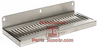 """6"""" x 14"""" Stainless Steel Wall Mount Drip Tray Brew Draft Beer Bar Tap Kegerator"""
