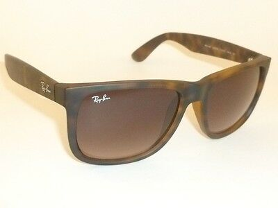 e1c81321d304a8 RAY BAN Justin Sunglasses Rubber Havana Brown RB 4165 710 13 Gradient Brown  51mm