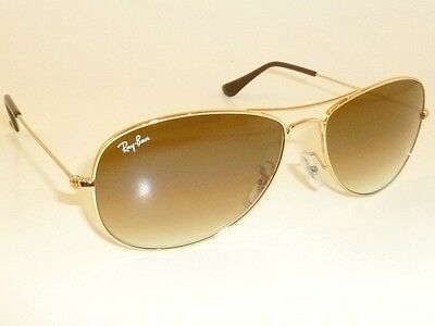 3435e63a6 New RAY BAN Sunglasses COCKPIT Gold RB 3362 001/51 Brown Gradient Lenses  59mm