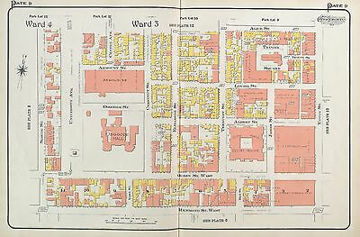 1910 Toronto Canada City Hall Courthouse Alice St To Richmond St Atlas Map