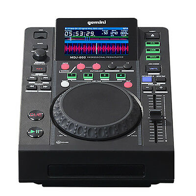 Gemini MDJ-600 Professional Dj USB and CD Media Player w/ Color Screen