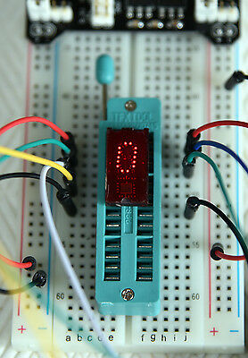 TIL311 Digit Hexadecimal Red LED Display IC Tested Working