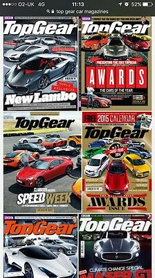 Collection Of Top Gear Magazines 140+ Rare Issues