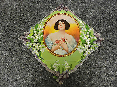 """Vintage Calendar Blank - Lady with Roses - 10-1/2"""" x 10-1/2"""""""