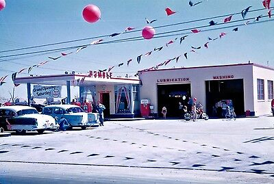 1 VINTAGE 5x7 HUMBLE GAS STATION SERVICE GARAGE mid 50's
