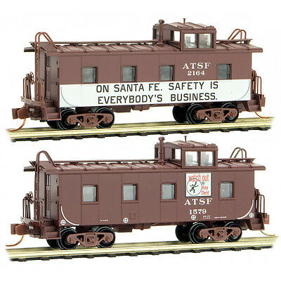 Micro-Trains MTL N Atchison Topeka & Santa Fe Safety Caboose 2 Pack 10000370