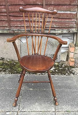 reproduction antique chair Candle Stick Design Rounded Shaped Arms