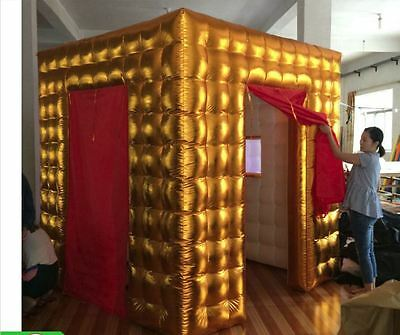Custom made portable inflatable photo gold party pop up LED lights igloo booth
