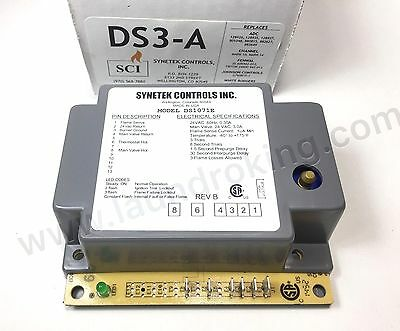 Ds3-A Synetek 24V Ignition Box For American Dryer Replaces Gem-627, 880815, 8826
